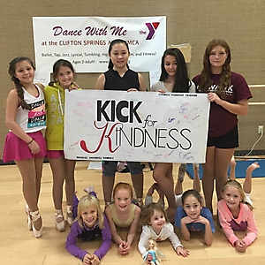 2015 Heather Burbridge - Dance With Me at the Y celebrated kick for kindness during Arts Week at the Y 2015